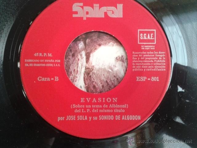 Discos de vinilo: Jose Solá - La Noche De Los Cien Pájaros / Evasión 1972 SPIRAL Cinematic Library Killer Dabada RARO! - Foto 8 - 40670084