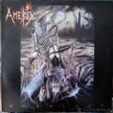 Discos de vinilo: AMEBIX. MONOLITH. HEAVY METAL RECORDS, UK 1987 LP ORIGINAL HMR LP 99. Lote 40672979