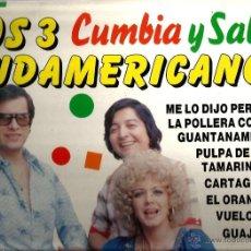 Discos de vinilo: LP LOS 3 SUDAMERICANOS : GUAJIRA, VUELO 502, GUANTANAMERA, LA BANDA ESTA BORRACHA, CARTAGENERA, ETC . Lote 40673156