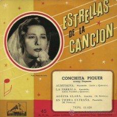 Discos de vinilo: CONCHITA PIQUER EP SELLO LA VOZ DE SU AMO AÑO 1958 . Lote 40673226