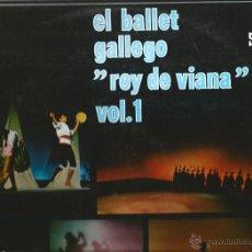 Discos de vinilo: LP GALICIA FOLK : ORQUESTA SIMFONICA DEL BALLET GALLEGO + CUERPO DE GAITAS REY DE VIANA . Lote 40673356