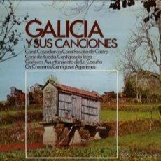 Discos de vinilo: LP GALICIA: CANTIGAS DA TERRA + CORAL DE RUANDA + GRUPO DE GAITAS OS CRUCEIROS + GAITEROS LA CORUÑA . Lote 40673612