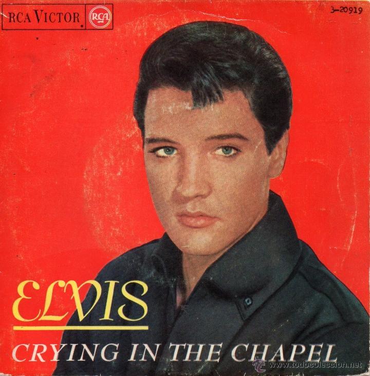 ELVIS PRESLEY, EP, CRYING IN THE CHAPEL + 3, AÑO 1965 (Música - Discos de Vinilo - EPs - Pop - Rock Extranjero de los 50 y 60)