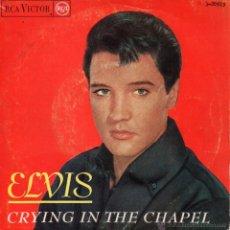 Discos de vinilo: ELVIS PRESLEY, EP, CRYING IN THE CHAPEL + 3, AÑO 1965. Lote 40685280