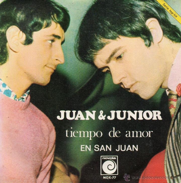 JUAN & JUNIOR, SG, TIEMPO DE AMOR + 1, AÑO 1968 (Música - Discos - Singles Vinilo - Grupos Españoles 50 y 60)