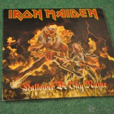 Discos de vinilo: IRON MAIDEN - HALLOWED BE THY NAME - VINILO ROJO + POSTER. Lote 40687070