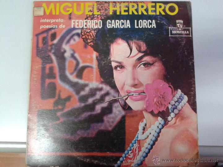 MAGNIFICO LP DE MIGUEL GUERRERO-INTERPRETANDO POESIAS DE FEDERICO GARCIA LORCA-EDITADO EN VENEZUELA- (Música - Discos de Vinilo - Maxi Singles - Clásica, Ópera, Zarzuela y Marchas)