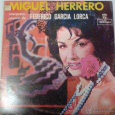 Discos de vinilo: MAGNIFICO LP DE MIGUEL GUERRERO-INTERPRETANDO POESIAS DE FEDERICO GARCIA LORCA-EDITADO EN VENEZUELA-. Lote 40697433