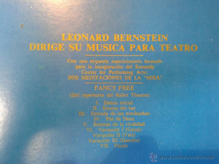 Discos de vinilo: MAGNIFICO DOBLE ALBUM DE MILUPA-LEONARD -BERNSTEIN-MUSICA PARA TEATRO DEL AÑO 1975- - Foto 2 - 40698082