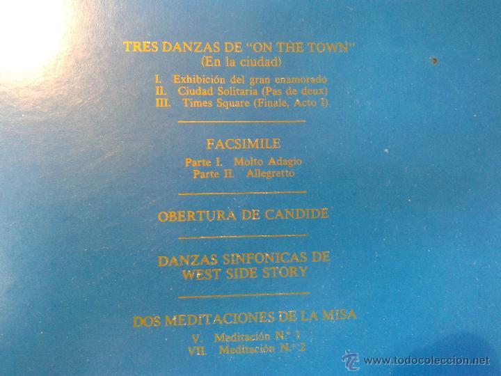 Discos de vinilo: MAGNIFICO DOBLE ALBUM DE MILUPA-LEONARD -BERNSTEIN-MUSICA PARA TEATRO DEL AÑO 1975- - Foto 3 - 40698082