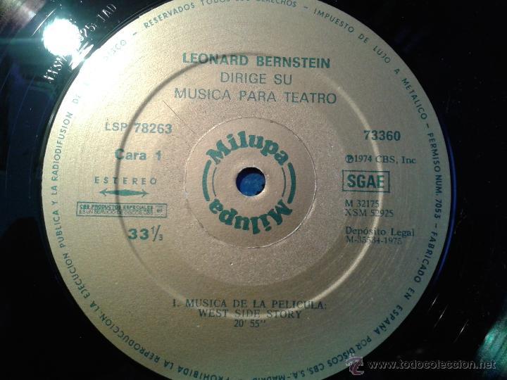 Discos de vinilo: MAGNIFICO DOBLE ALBUM DE MILUPA-LEONARD -BERNSTEIN-MUSICA PARA TEATRO DEL AÑO 1975- - Foto 5 - 40698082