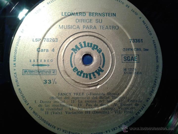 Discos de vinilo: MAGNIFICO DOBLE ALBUM DE MILUPA-LEONARD -BERNSTEIN-MUSICA PARA TEATRO DEL AÑO 1975- - Foto 7 - 40698082