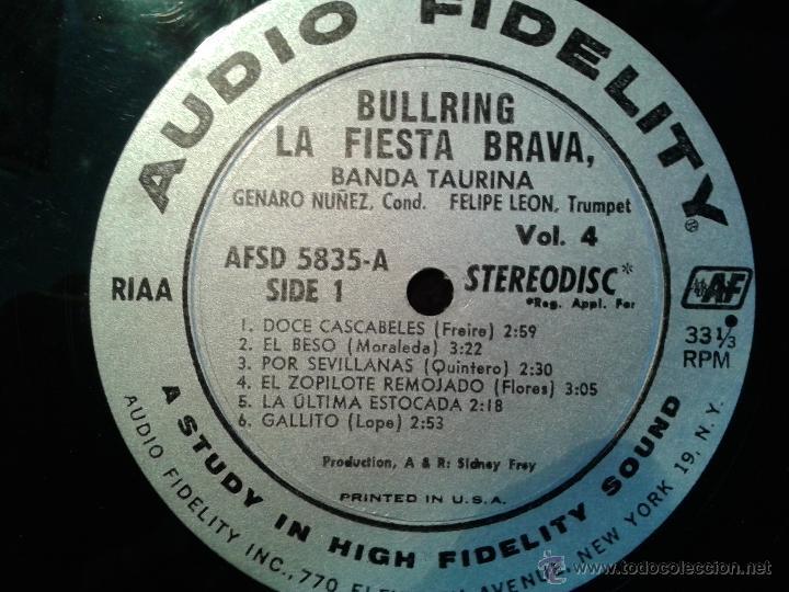 Discos de vinilo: MAGNIFICO LP DE LA FIESTA BRAVA VOLUMEN 4-EDITADO EN NEW-YORK- - Foto 3 - 40698248