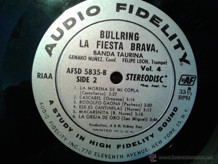 Discos de vinilo: MAGNIFICO LP DE LA FIESTA BRAVA VOLUMEN 4-EDITADO EN NEW-YORK- - Foto 4 - 40698248