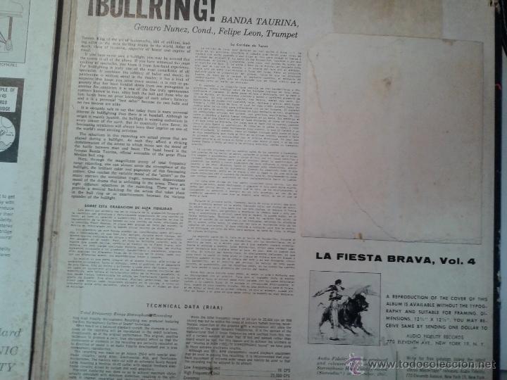Discos de vinilo: MAGNIFICO LP DE LA FIESTA BRAVA VOLUMEN 4-EDITADO EN NEW-YORK- - Foto 5 - 40698248