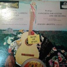 Discos de vinilo: MAGNIFICO LP-FALLA- DE NOCHES EN LOS JARDINES Y CONCIERTO DE ARANJUEZ-EDITADO EN LONDRES-. Lote 40698317