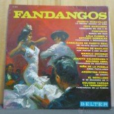 Discos de vinilo: MANOLO ESCOBAR / DOLORES VARGAS / FOSFORITO - FANDANGOS - LP BELTER - 22.044 - ESPAÑA 1966. Lote 40703153