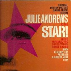 Discos de vinilo: JULIE ANDREWS LP PORTADA DOBLE SELLO 20 CENTURY FOX DE LA PELICULA LA ESTRELLA EDITADO EN USA.. Lote 40708242
