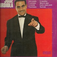 Discos de vinilo: JOSE GUARDIOLA 10´ (25 CTMS.) DEL SELLO ORLADOR AÑO 1972. Lote 40708282