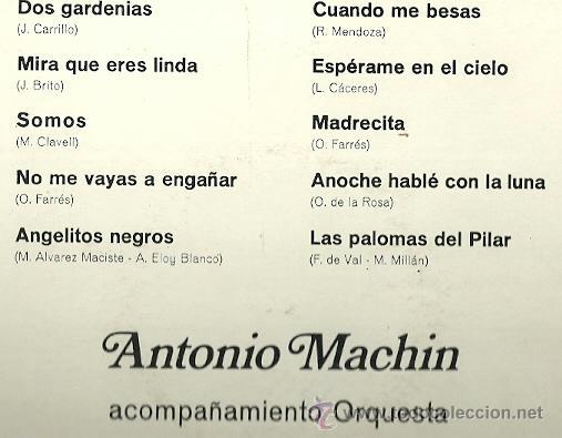 Discos de vinilo: ANTONIO MACHIN 10´ (25 CTMS.) DEL SELLO ORLADOR AÑO 1971 - Foto 2 - 40708298