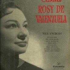 Discos de vinilo: ROSY DE VALENZUELA 10´ (25 CTMS.) DEL SELLO COLUMBIA AÑO 1958. Lote 40708361
