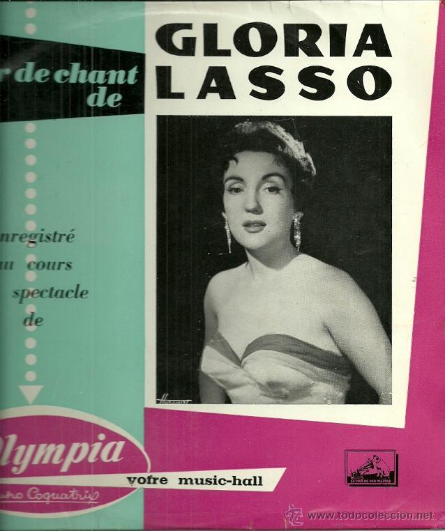 GLORIA LASSO EN EL OLYMPIA 10´ (25 CTMS.) DEL SELLO LA VOZ DE SU AMO AÑO 1958 EDITADO EN FRANCIA (Música - Discos - LP Vinilo - Solistas Españoles de los 50 y 60)