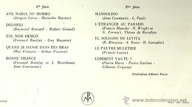 Discos de vinilo: GLORIA LASSO EN EL OLYMPIA 10´ (25 CTMS.) DEL SELLO LA VOZ DE SU AMO AÑO 1958 EDITADO EN FRANCIA - Foto 2 - 40708381
