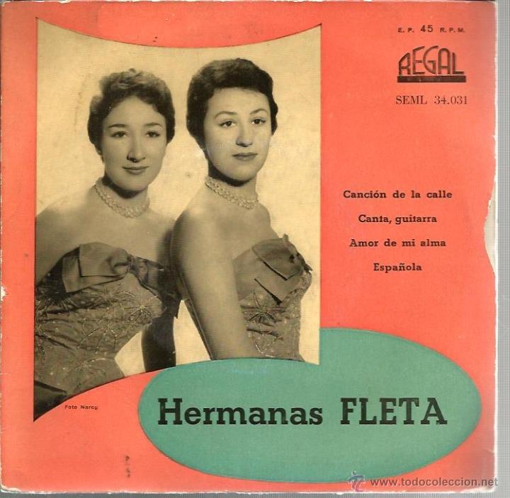 EP HERMANAS FLETA : CANCION DE LA CALLE (Música - Discos de Vinilo - EPs - Solistas Españoles de los 50 y 60)