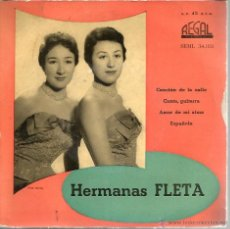 Discos de vinilo: EP HERMANAS FLETA : CANCION DE LA CALLE . Lote 40713309