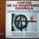 Discos de vinilo: CORO POPULAR JABALON - CANTOS DE LA RESISTENCIA ESPAÑOLA. Lote 40713470