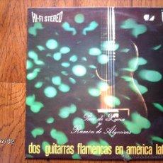Discos de vinilo: PACO DE LUCIA Y RAMON DE ALGECIRAS - DOS GUITARRAS FLAMENCAS EN AMERICA LATINA . Lote 40713483