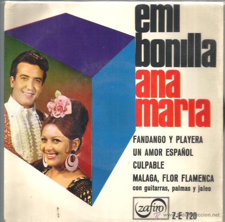 EP EMI BONILLA & ANA MARIA : FANDANGO Y PLAYERA (Música - Discos de Vinilo - EPs - Flamenco, Canción española y Cuplé)