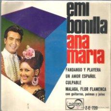 Discos de vinilo: EP EMI BONILLA & ANA MARIA : FANDANGO Y PLAYERA . Lote 40714736