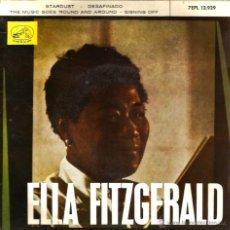 Discos de vinilo: EP ELLA FITZGERALD : STARDUST (CARMICHAEL ) + DESAFINANDO ( JOBIM ) + 2 . Lote 40717163