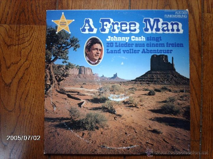 JOHNNY CASH - A FREE MAN (Música - Discos - LP Vinilo - Country y Folk)