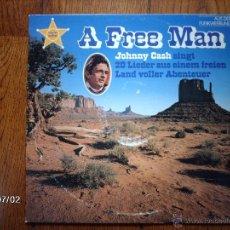 Vinyl records - johnny cash - a free man - 40717692