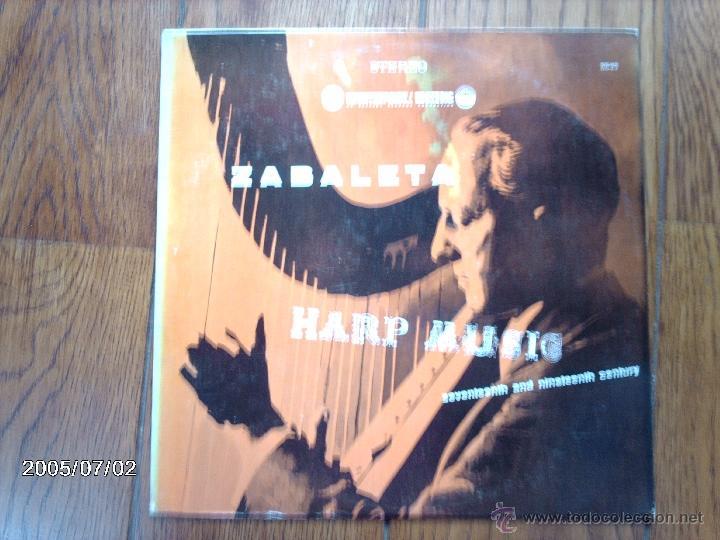 NICANOR ZABALETA - HARP MUSIC - SEVENTEENTH AND NINETEENTH CENTURY (Música - Discos - LP Vinilo - Clásica, Ópera, Zarzuela y Marchas)