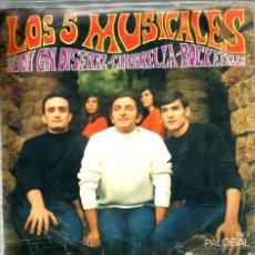 Discos de vinilo: SG LOS 5 MUSICALES : JUDY CON DISFRAZ + CINDARELLA ROCKEFELLA . Lote 40719264