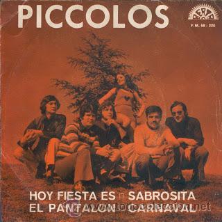 PICCOLOS / HOY ES FIESTA - SABROSITA - EL PANTALON - CARNAVAL !! RARO EP 1972 , EXC (Música - Discos de Vinilo - EPs - Solistas Españoles de los 50 y 60)