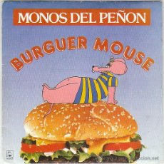 Discos de vinilo: MONOS DEL PEÑON - BURGER MOUSE / MISTERY. SINGLE DE HORUS DE 1991 PROMO. Lote 40730755