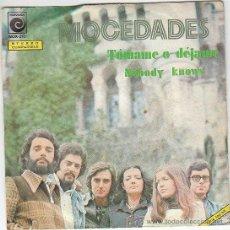 Discos de vinilo: MOCEDADES - TOMAME O DEJAME / NOBODY KNOWS - SINGLE DEL SELLO NOVOLA DEL AÑO 1.974. Lote 296589383
