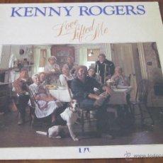 Discos de vinilo: KENNY ROGERS - LOVE LIFTED ME - LP - UAR 1976 USA MUY BUEN ESTADO. Lote 40731303