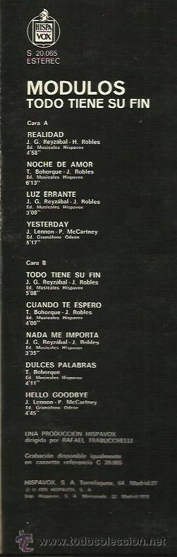 Discos de vinilo: MODULOS LP SELLO HISPAVOX AÑO 1968 - Foto 2 - 40732799