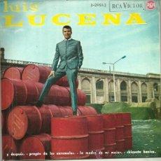 Discos de vinilo: LUIS LUCENA EP SELLO RCA VICTOR AÑO 1965. Lote 40733648