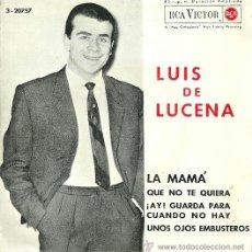 Discos de vinilo: LUIS LUCENA EP SELLO RCA VICTOR AÑO 1964. Lote 40733662