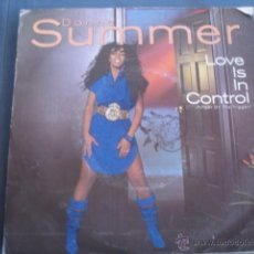 Discos de vinilo: DONNA SUMMER LOVE IS IN CONTROL. Lote 40739070