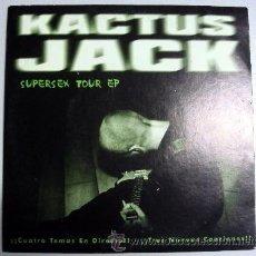 Discos de vinilo: KACTUC JACK SUPERSEX TOUR EP WACO RECORDS - ROCK ASTURIAS OVIEDO - 4 TEMAS, 3 INÉDITOS. Lote 40740288