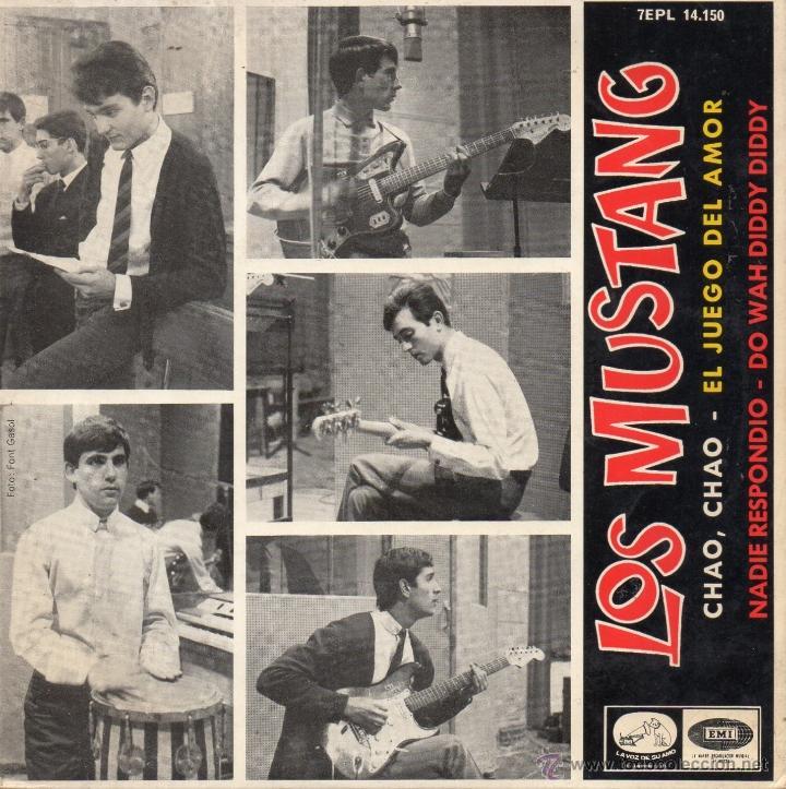 MUSTANG, EP, NADIE RESPONDIO (BEATLES) + 3, AÑO 1965 (Música - Discos de Vinilo - EPs - Grupos Españoles 50 y 60)