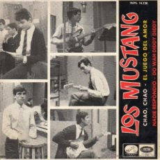 Discos de vinilo: MUSTANG, EP, NADIE RESPONDIO (BEATLES) + 3, AÑO 1965. Lote 40741692