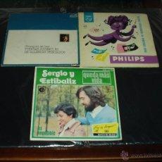 Discos de vinilo: LOTE 3 SINGLES PROMOCIONALES PROPAGANDA. Lote 40742616